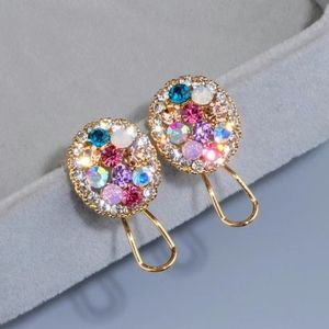 Gold Toned Crystal Studs NWOT